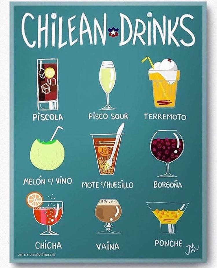 AFICHE CHILEAN DRINKS
